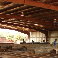 Fabricating Carbon Steel Pipe, Bay 2 at our Plant